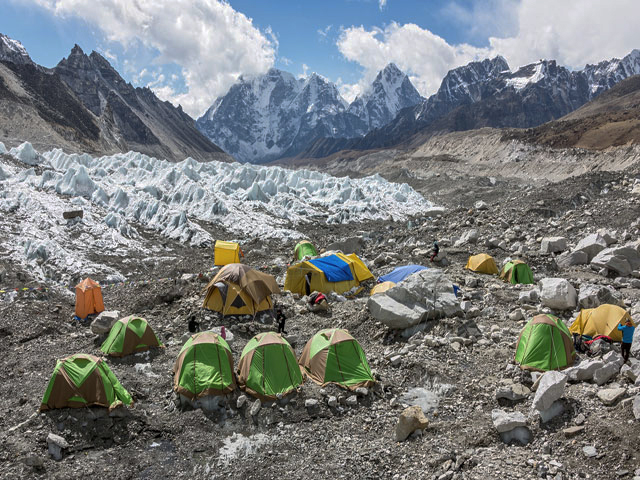 Khumbu Gacier Everest Base Camp