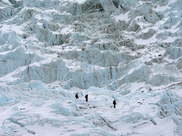 Heading Up The Khumbu Icefall