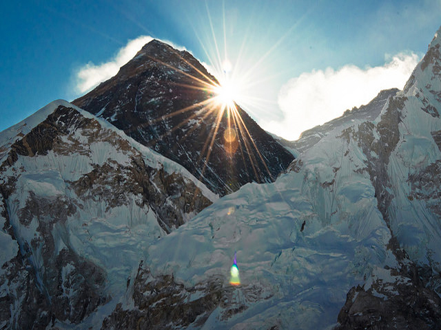 Sunrise At Gigantic Mount Everest