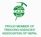 Trekking Agencies' Association of Nepal (TAAN) Member